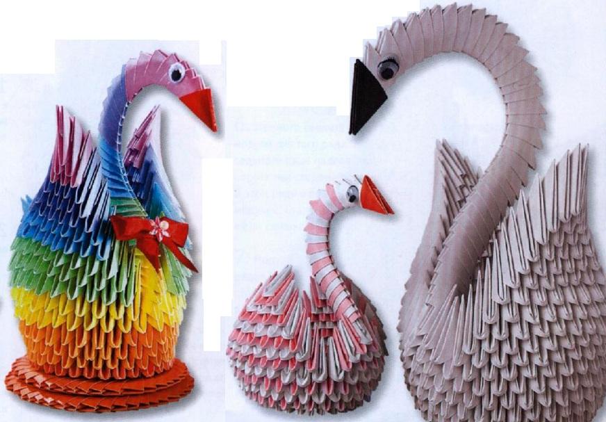 Размеры для оригами лебедь