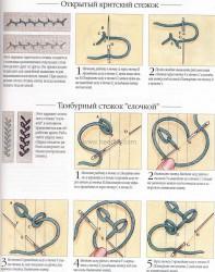 как вышивать петельными стежками