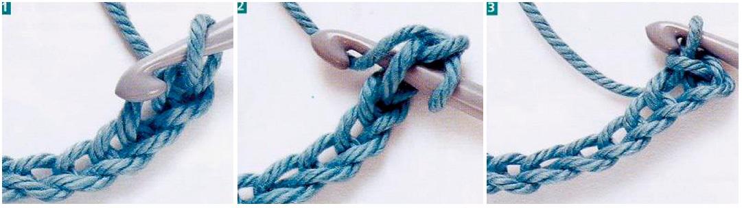 Вязание второго ряда крючком 756