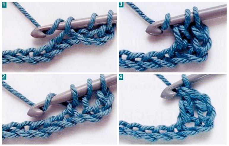 Вязание крючком как вязать 2 ряд