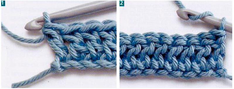 Вязание крючком переход с ряда