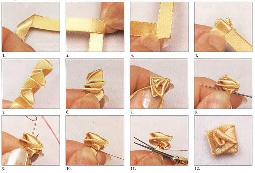 Вышивка лентами. виды швов
