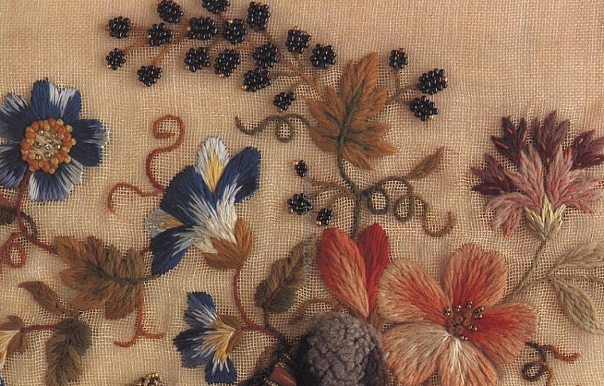 Вышивки цветы из стежков
