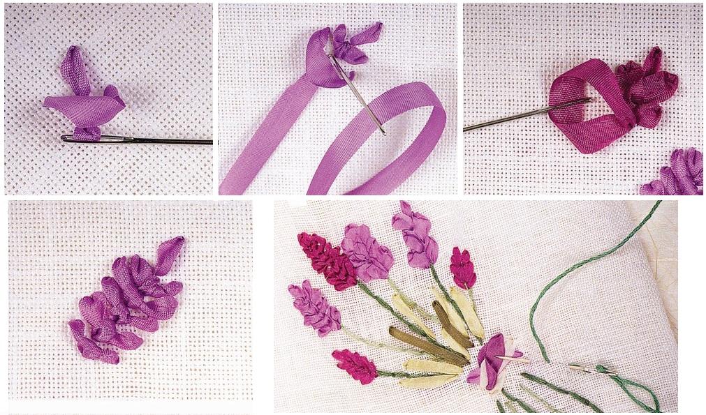 Вышивка шелковой ленточкой
