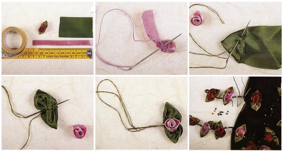 Вышивка на ткани своими руками цветок