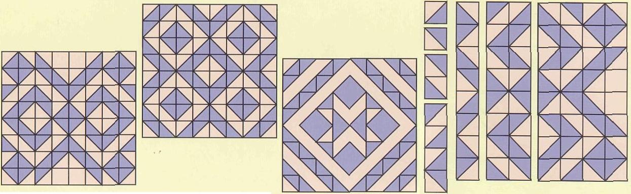 Схемы для лоскутного одеяла своими руками 21
