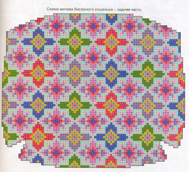 Схема вышивки бисером для кошельков