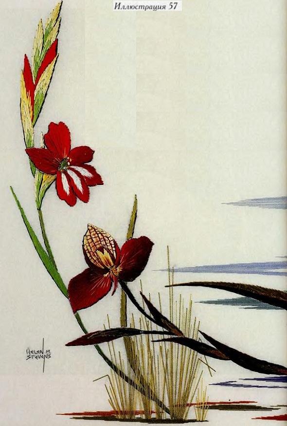 Экзотические цветы вышивка крестом