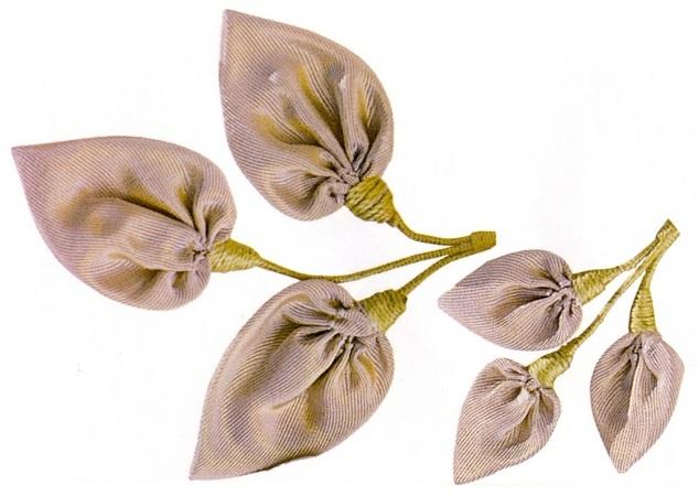 Листья для цветов из ткани своими руками