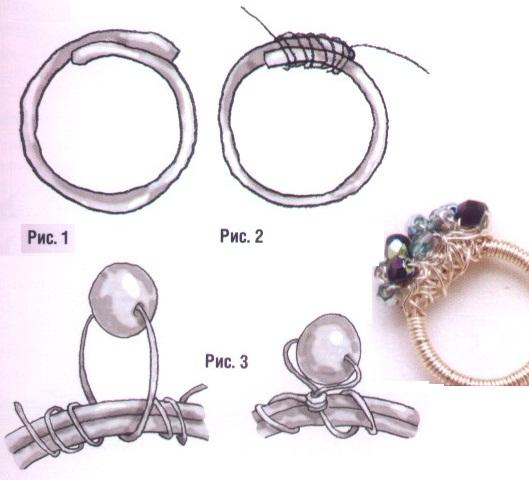 Как для куклы сделать кольцо из 410