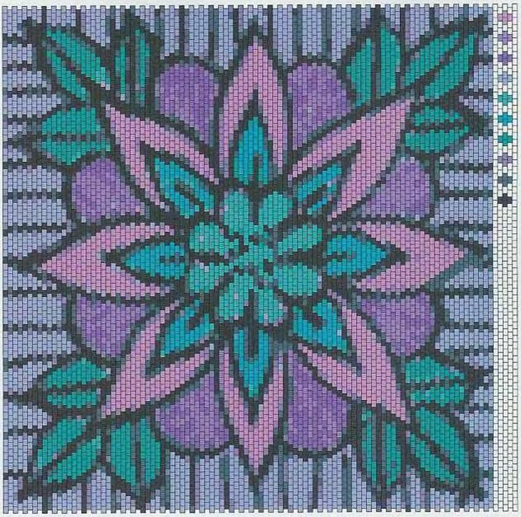 Плоская мозаика / Бисероплетение / В рукоделии: https://vrukodelii.com/ploskaya-mozaika