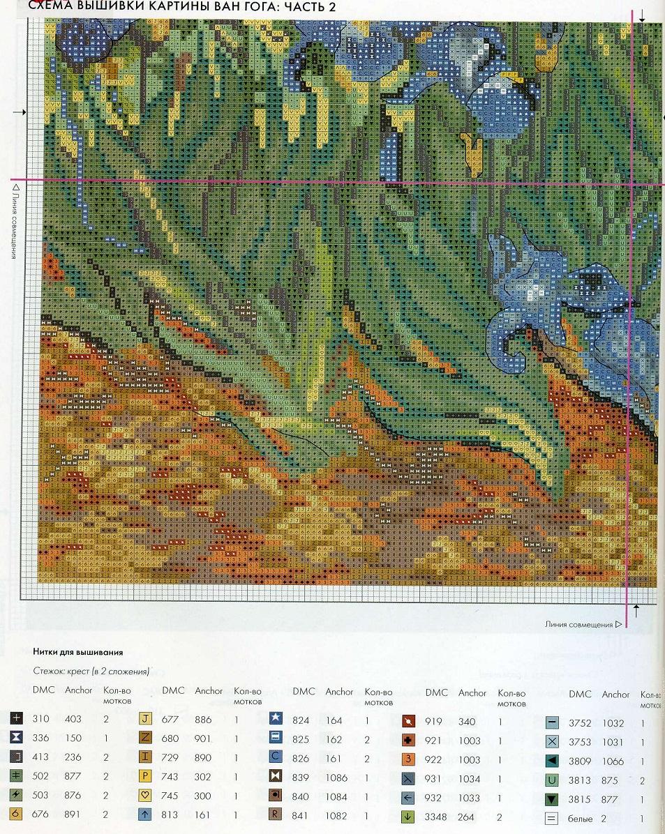 Схема вышивки картин ван гога 69