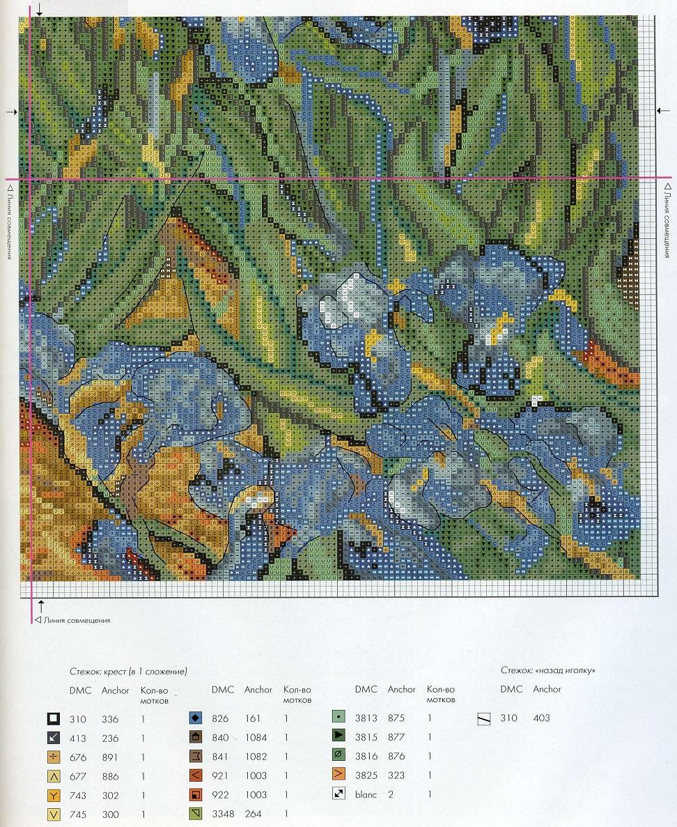 Схема вышивки картин ван гога 24