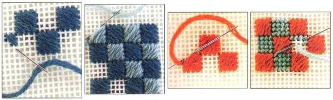 Швы для вышивки на канве 74