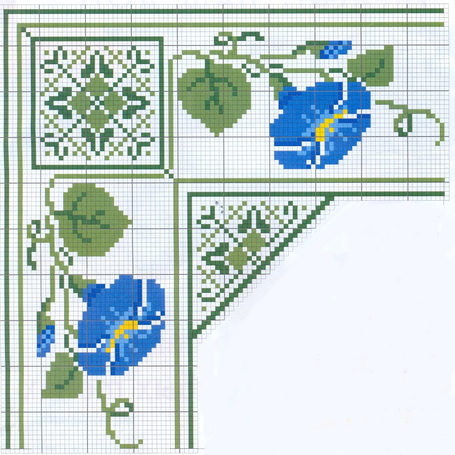 схема вышивки крестом салфетка с новым годом