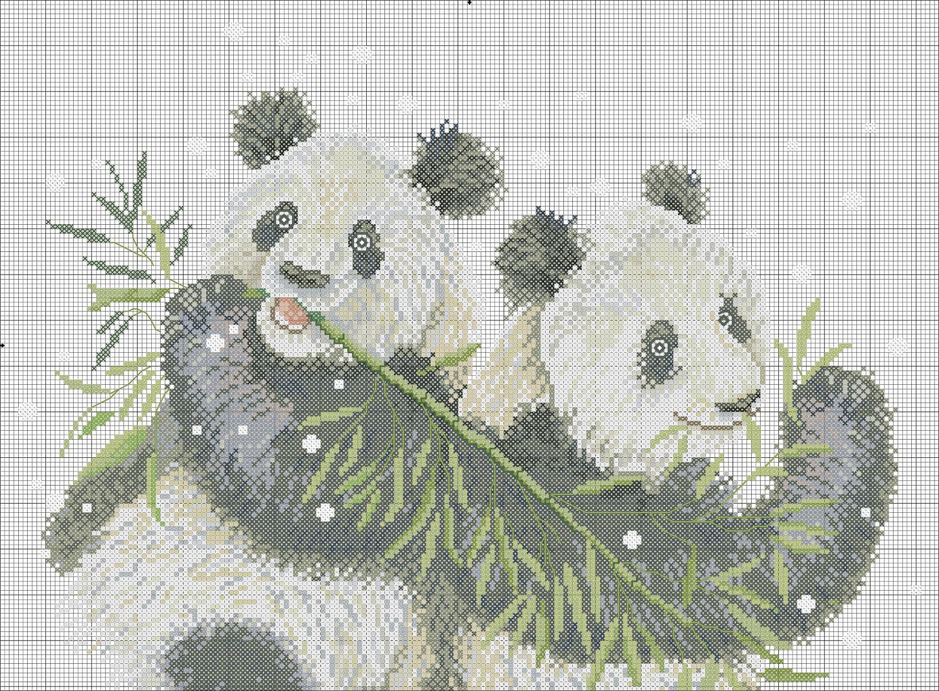 Панда схема вышивки скачать