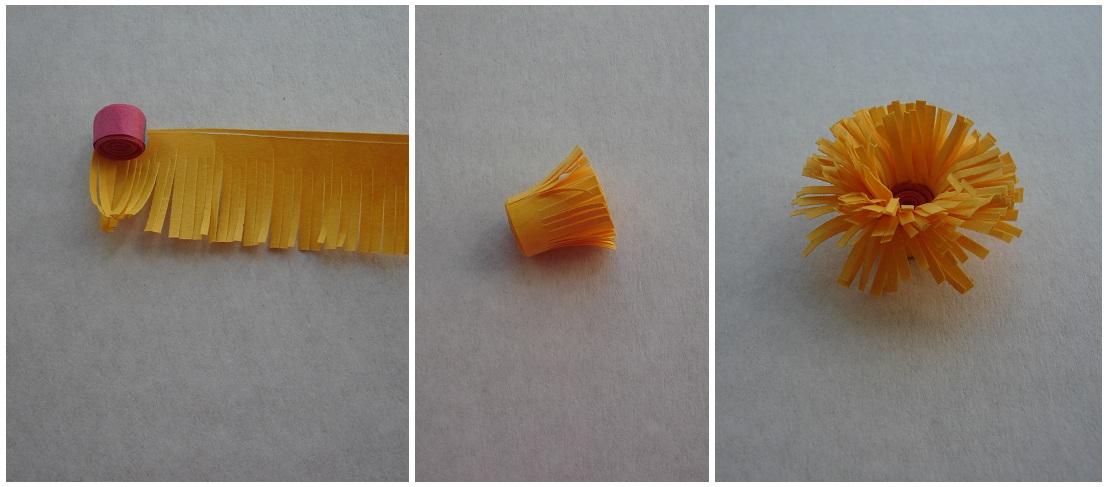 Как сделать пушистик из бумаги