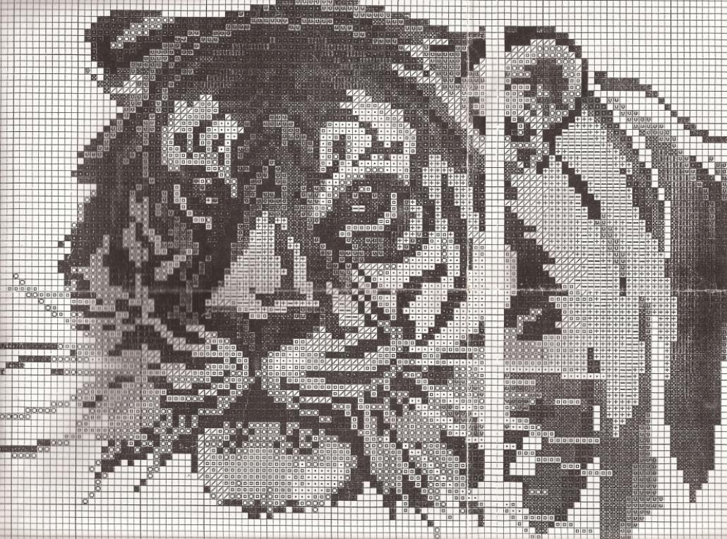 схему вышивки белый тигр белоснежка