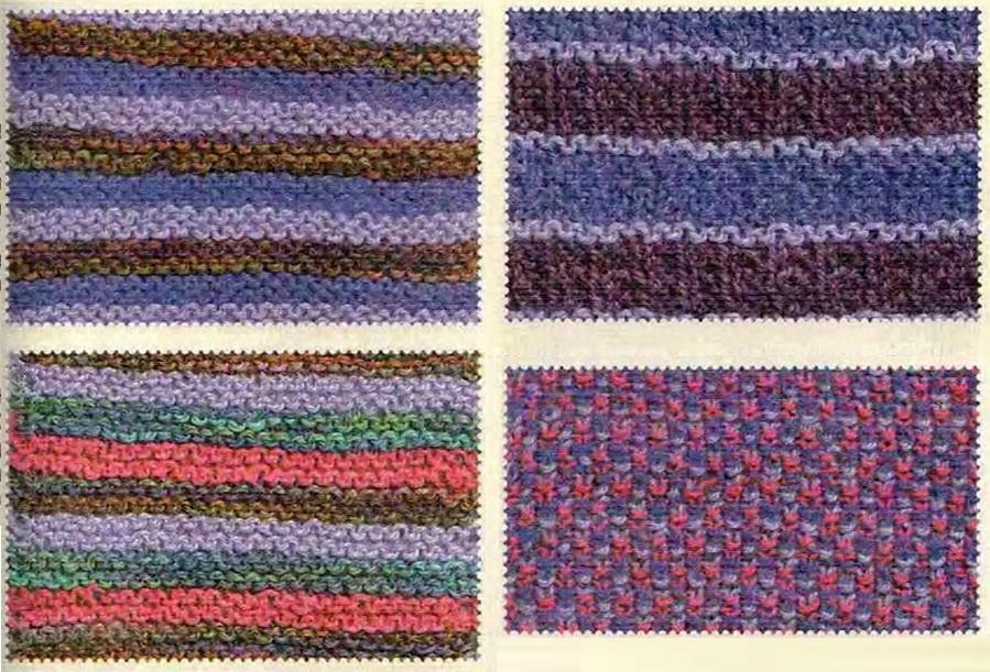 Сочетание цветов в вязание спицами 597