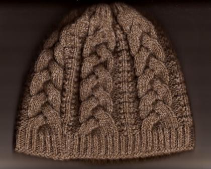 Вяжем только спицами шапки узором косы