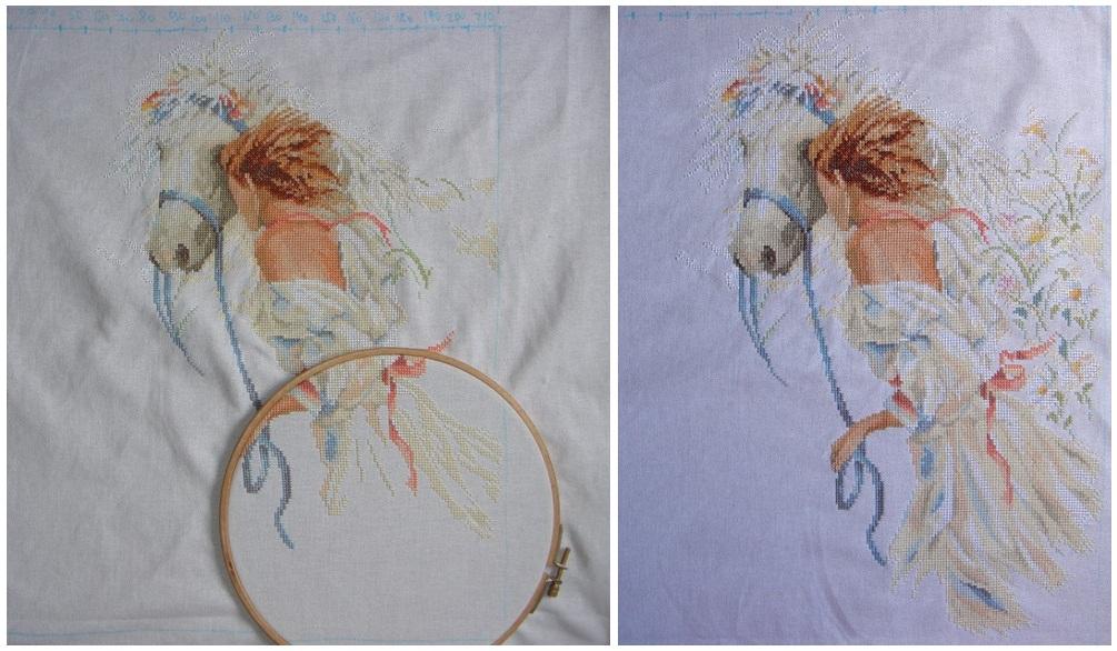 Вышивка крестом картины женщины
