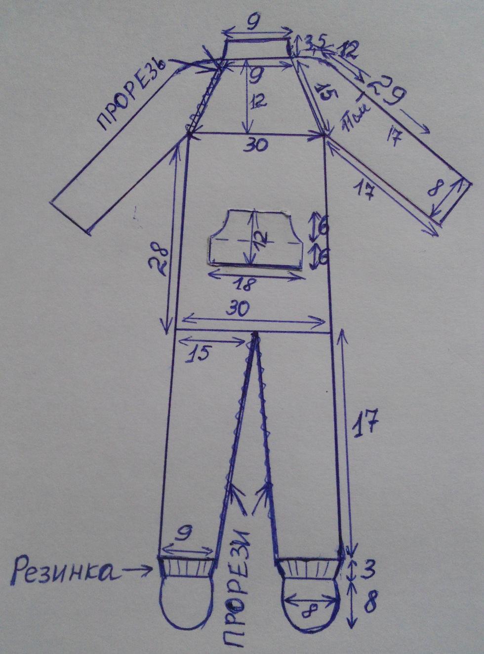 Размеры комбинезона для новорожденного вязание 4