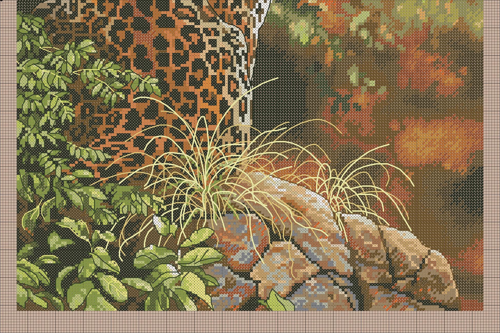 Вышивка крестом леопарды схема 16