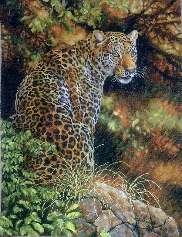 Вышивка крестом схема леопард