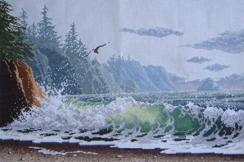 Морской пейзаж вышивка бисером