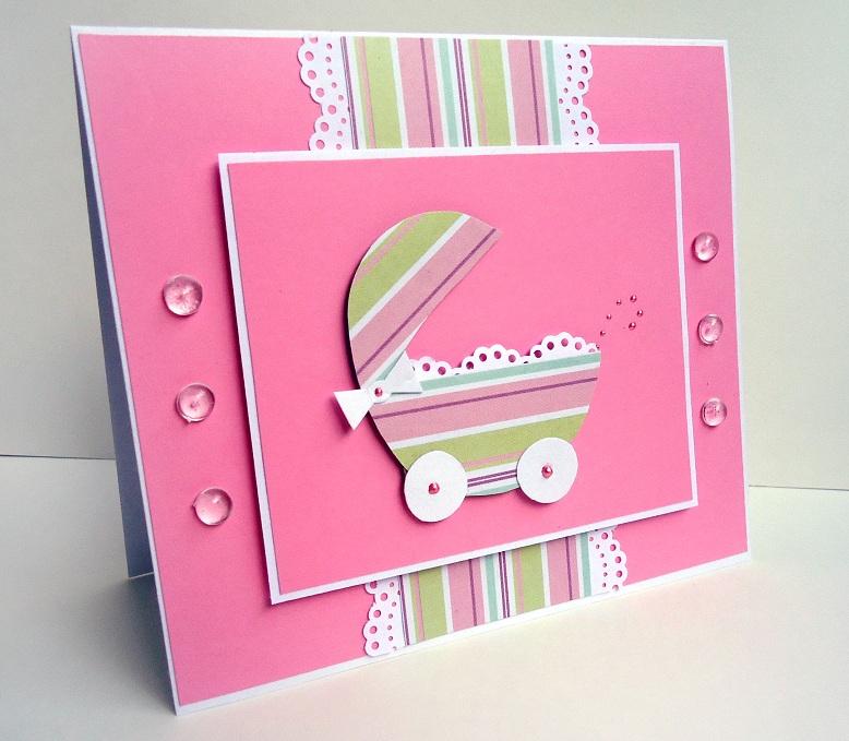 Рождение, самодельная открытка