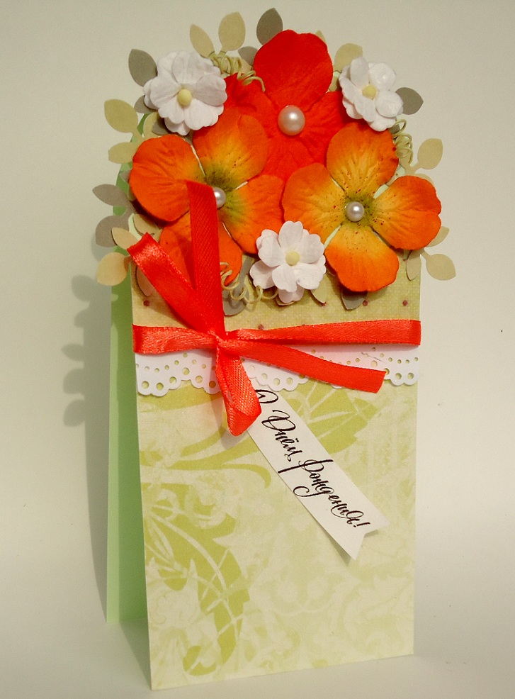 Открытка цветов для мамы