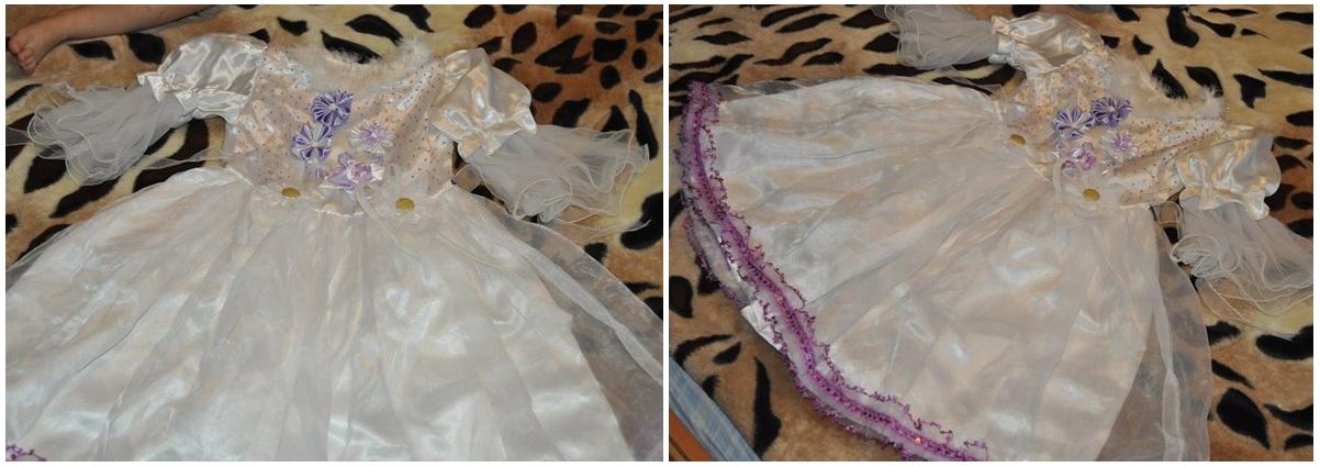 Украшения на платье из канзаши