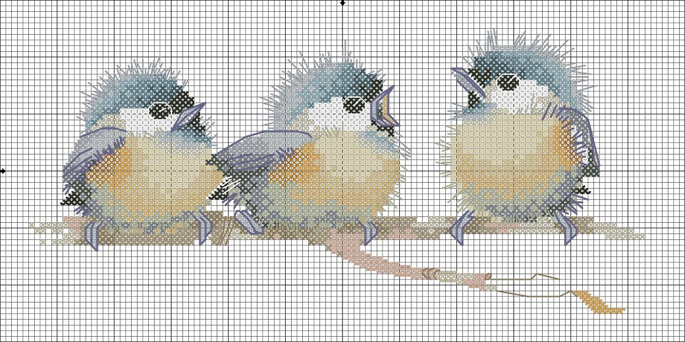 Вышивка схемы птенцы