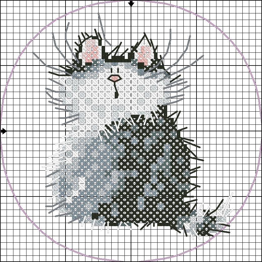 Схемы вышивки котята маленькие