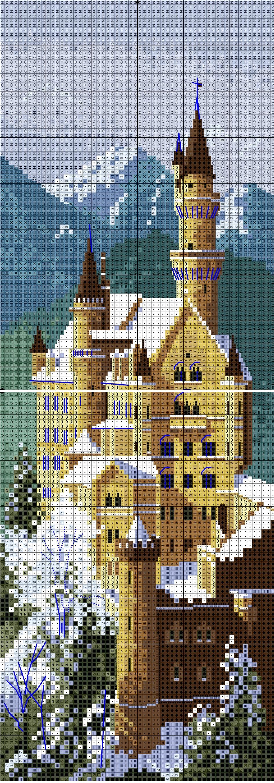Схема вышивки нойшванштайна замок