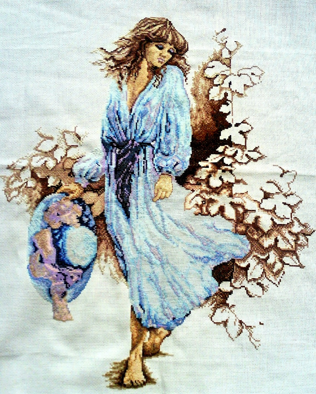 Вышивки крестом картины девушки