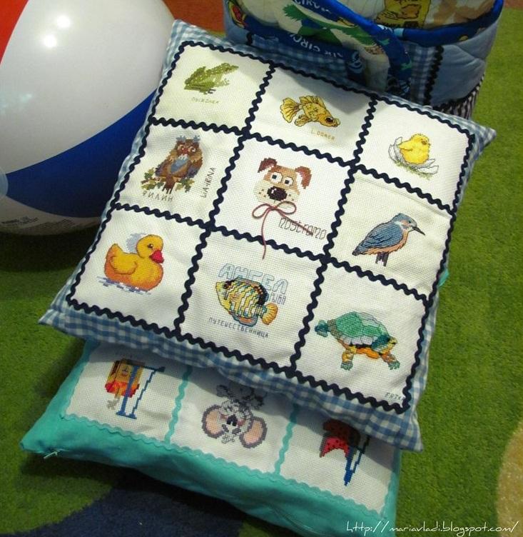 Вышивка для детей подушки