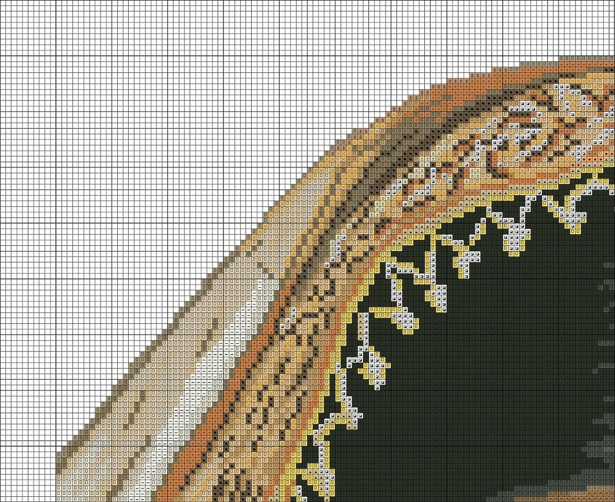 Схема вышивки крестиком индианка 21