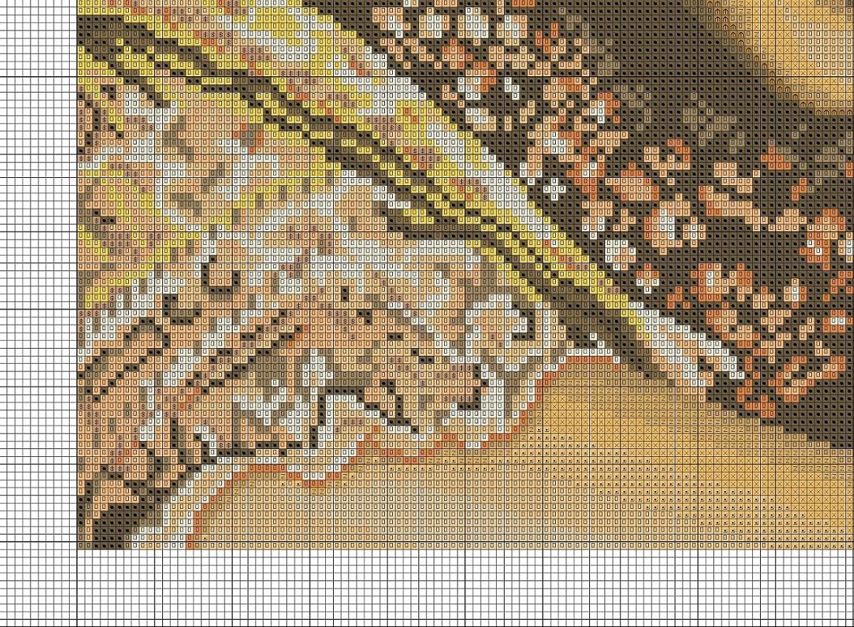 Схема вышивки крестиком индианка 27