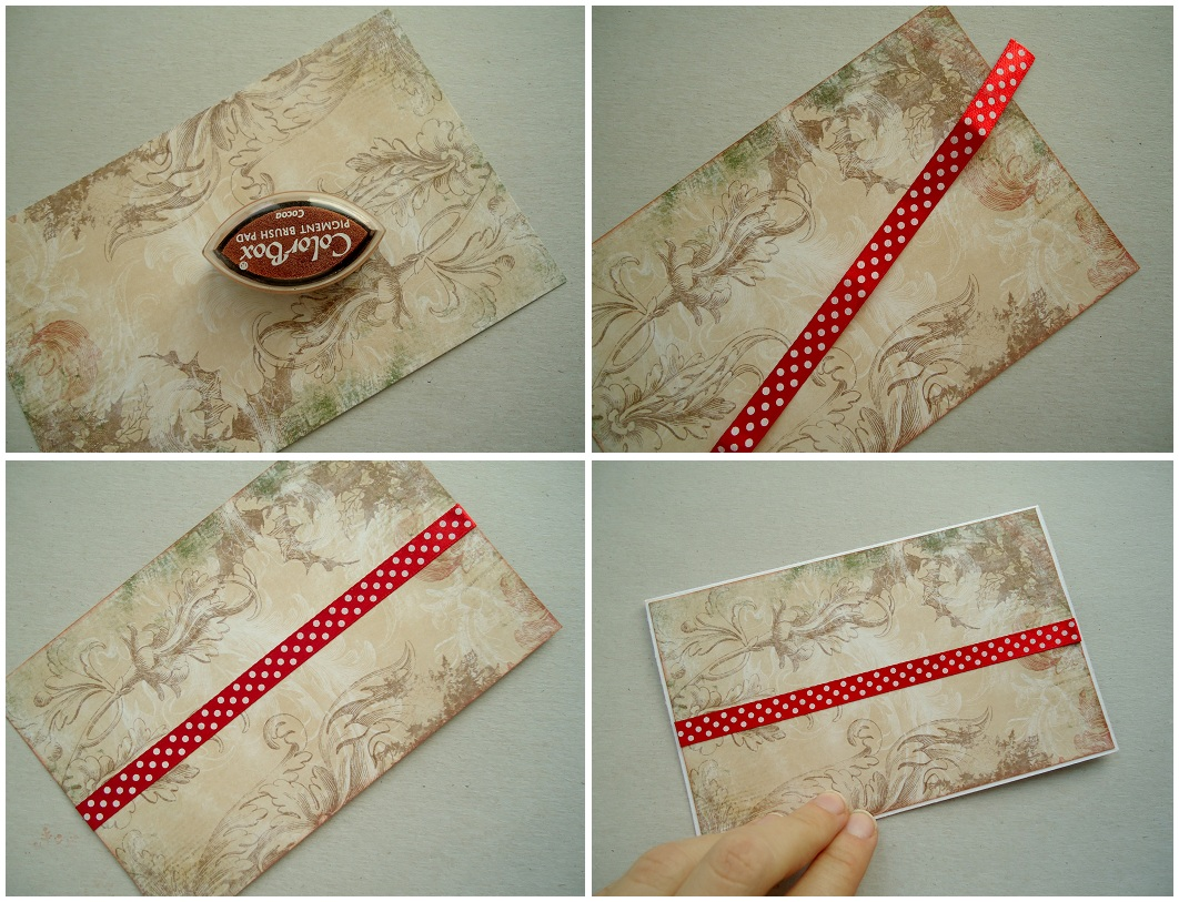 Тонируем бумагу для скрапбукинга