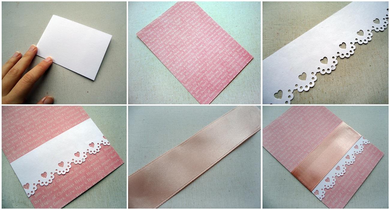 Как сделать красивый край открытки