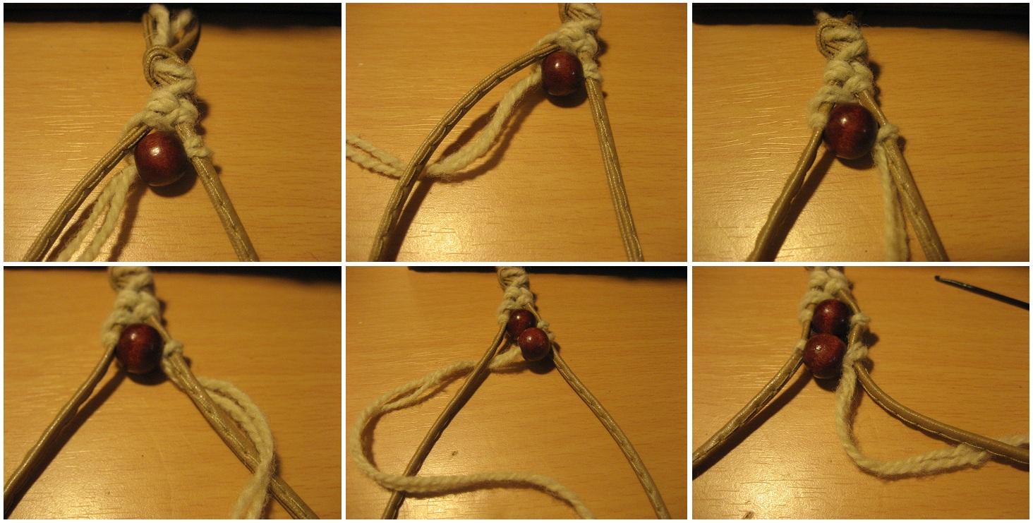 Браслеты своими руками из шнурков и бусин