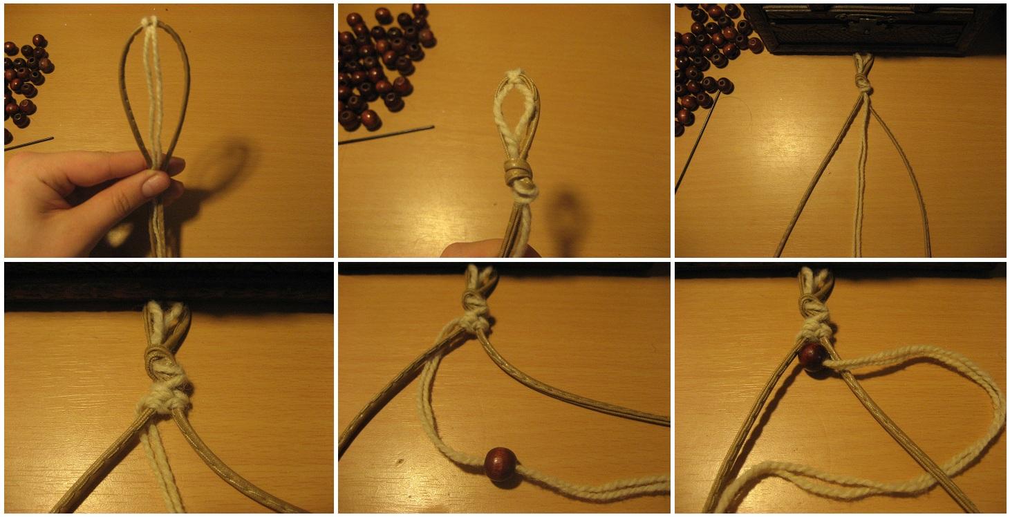 Как сделать браслеты на веревочках 301