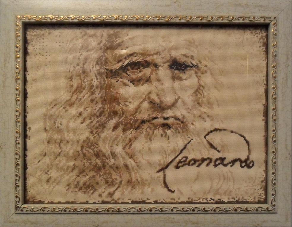Леонардо да винчи вышивка крестом