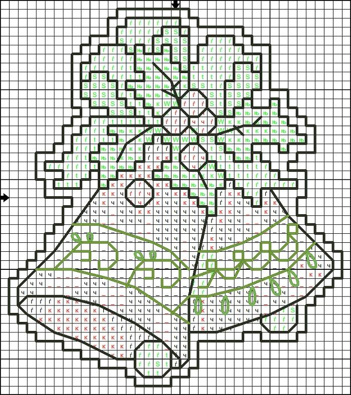 Схемы вышивки открытки на новый год
