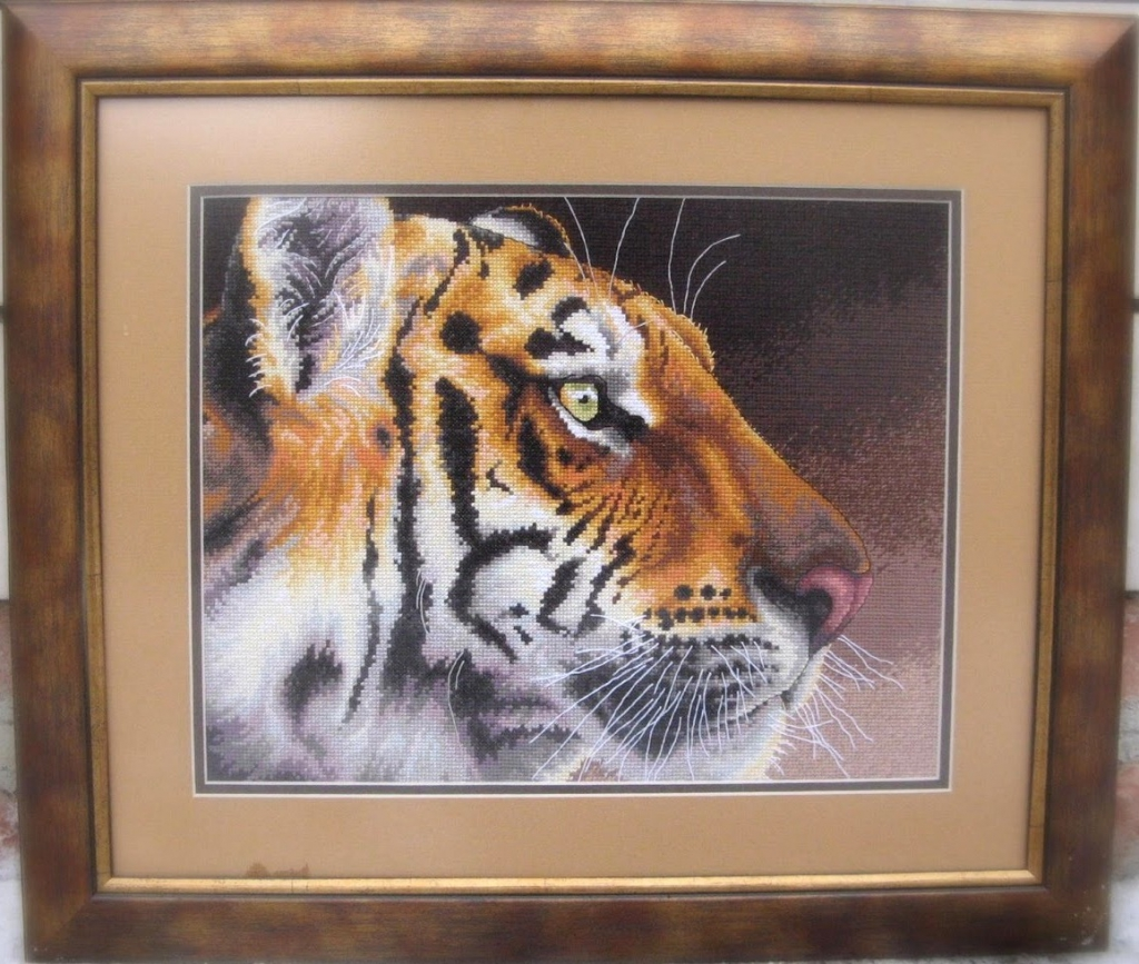 Вышивка крестом дименшенс тигр