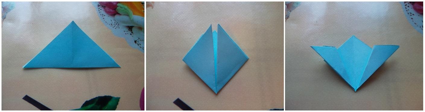 Как сделать цветок из оригами маленький