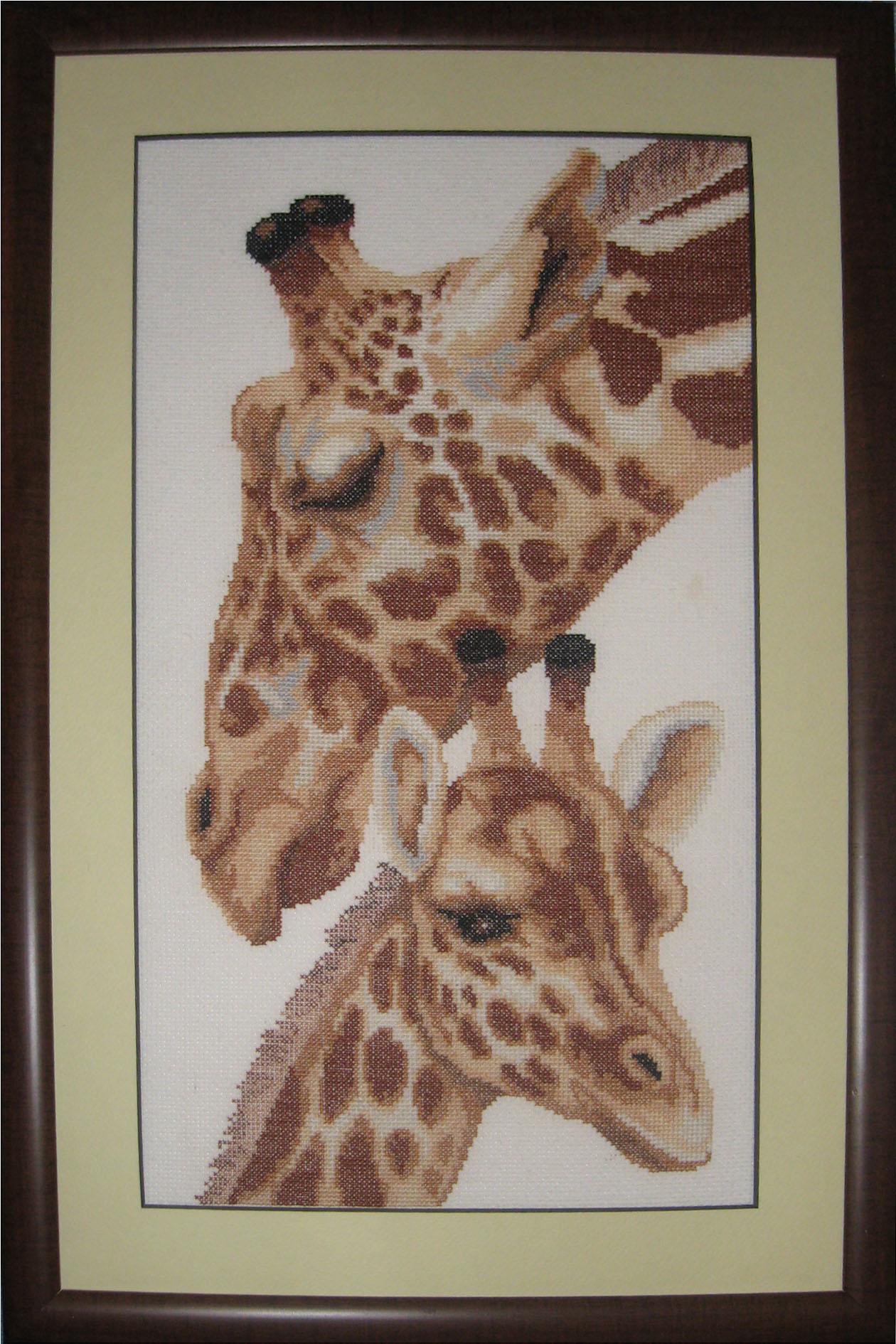 Вышивка жирафов бисером