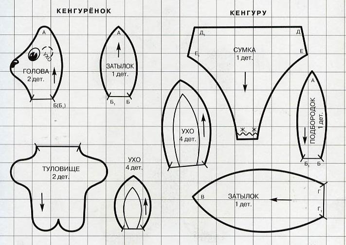 Кенгуру и черепаха / Шитьё / В рукоделии