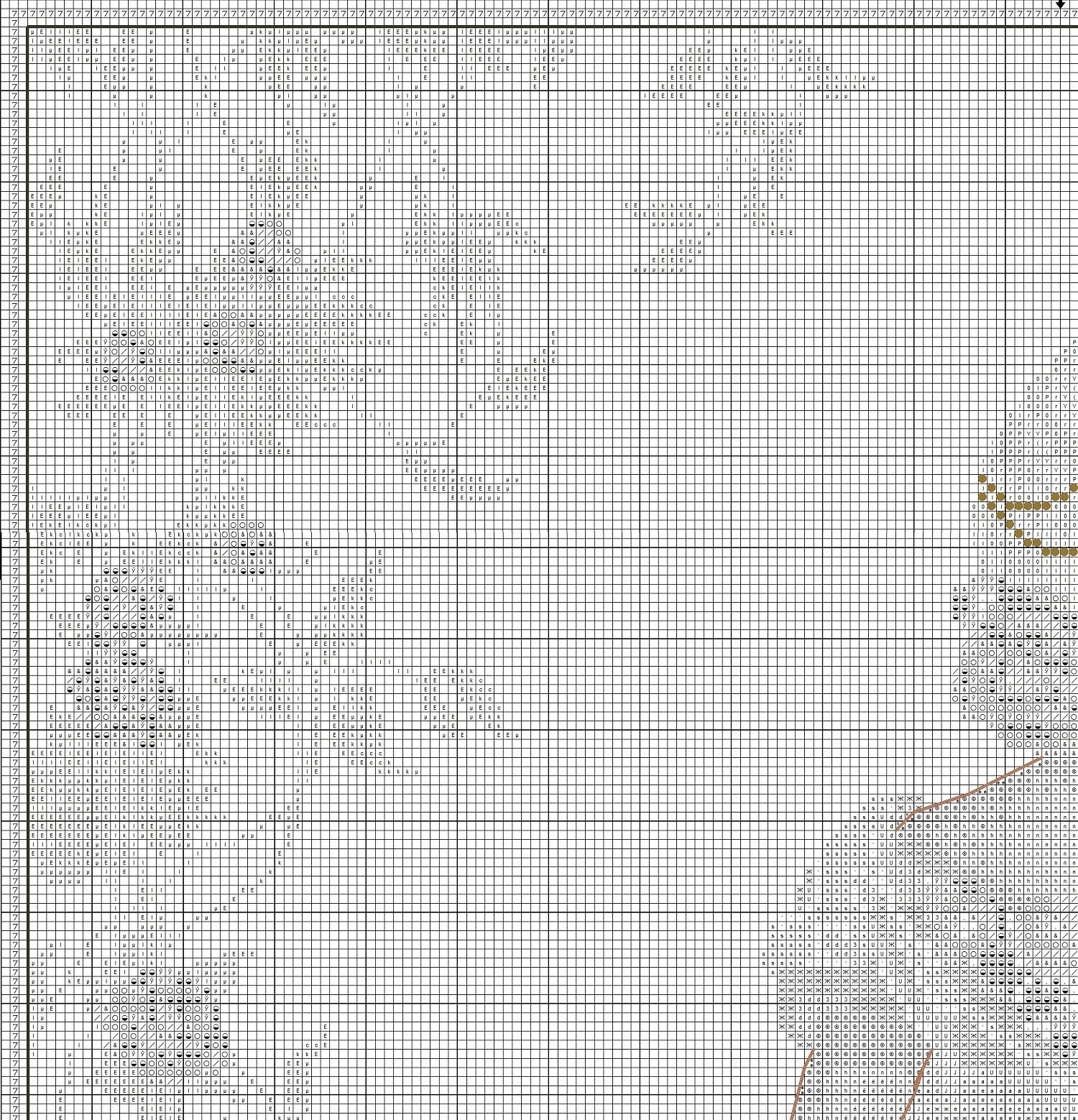 схема вышивки бисером назад иголка
